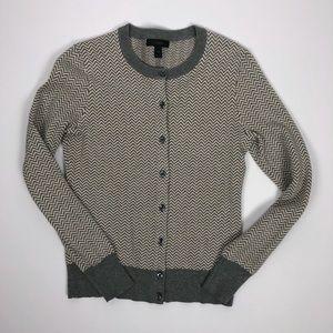 J.Crew Jackie Herringbone Cardigan Sweater